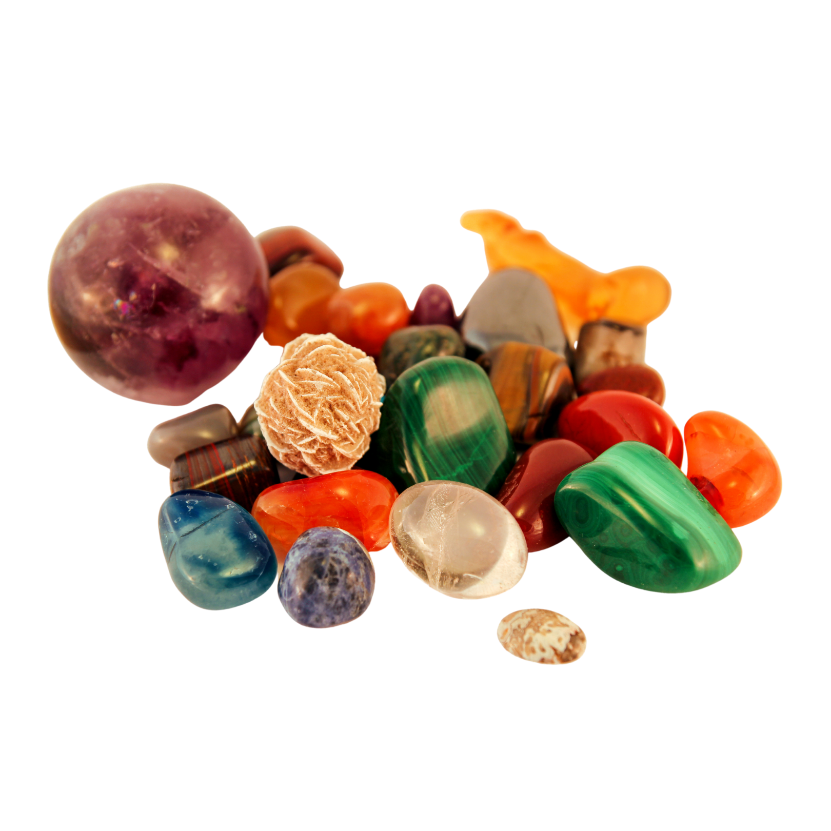Colorful heal stones
