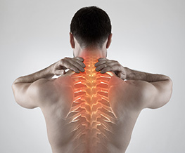 Man pain in back and neck